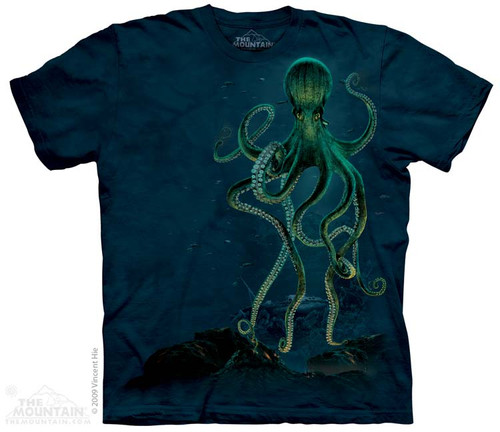 Image for The Mountain T-Shirt - Octopus