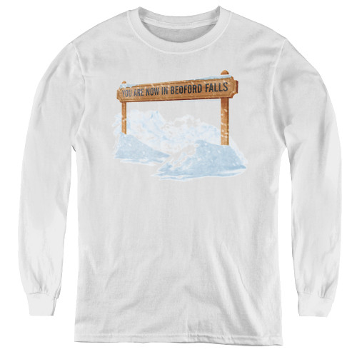 Image for It's a Wonderful Life Youth Long Sleeve T-Shirt - Beford Falls