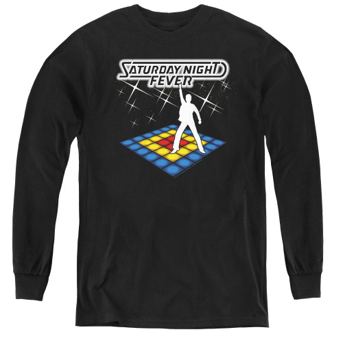 Image for Saturday Night Fever Youth Long Sleeve T-Shirt - Should Be Dancing