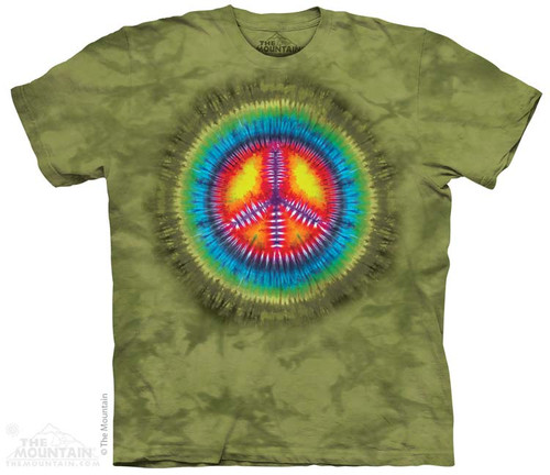 Image for The Mountain T-Shirt - Peace Tie Dye