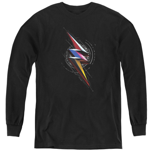 Image for Mighty Morphin Power Rangers Youth Long Sleeve T-Shirt - Bolg Sigil