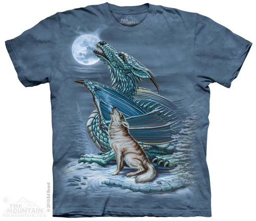 Image for The Mountain T-Shirt - Dragon Wolf Moon
