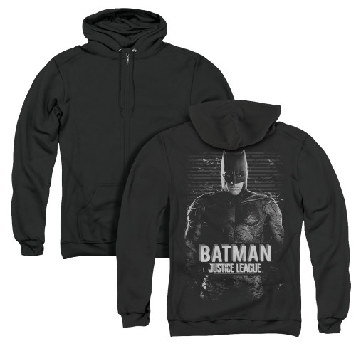 Image for Justice League Movie Zip Up Back Print Hoodie - Batman