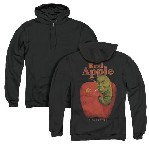 Image for Pulp Fiction Zip Up Back Print Hoodie - Red Apple