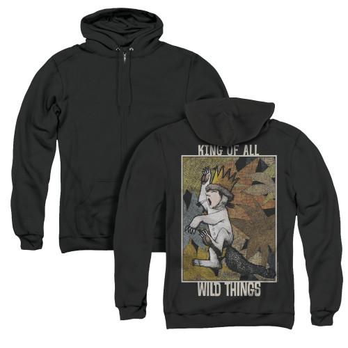 Image for Where the Wild Things Are Zip Up Back Print Hoodie - King of All Wild Things