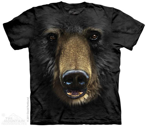 Image for The Mountain T-Shirt - Black Bear Face