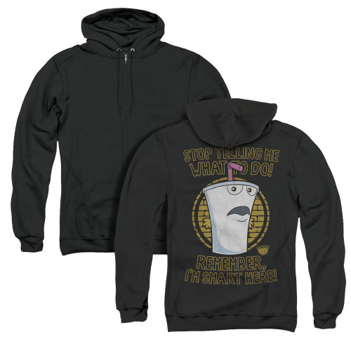 Image for Aqua Teen Hunger Force Zip Up Back Print Hoodie - Stop