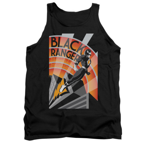 Image for Power Rangers Tank Top - Black Ranger Deco