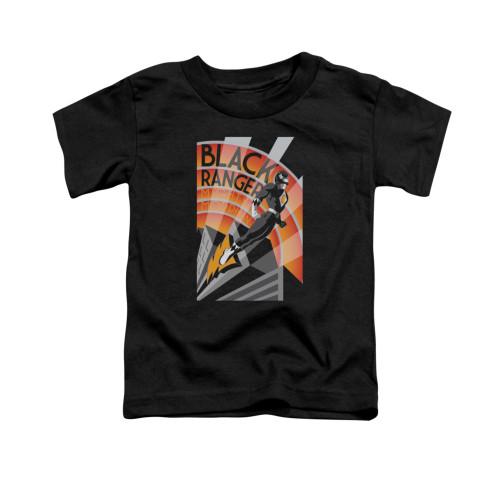 Image for Power Rangers Toddler T-Shirt - Black Ranger Decos