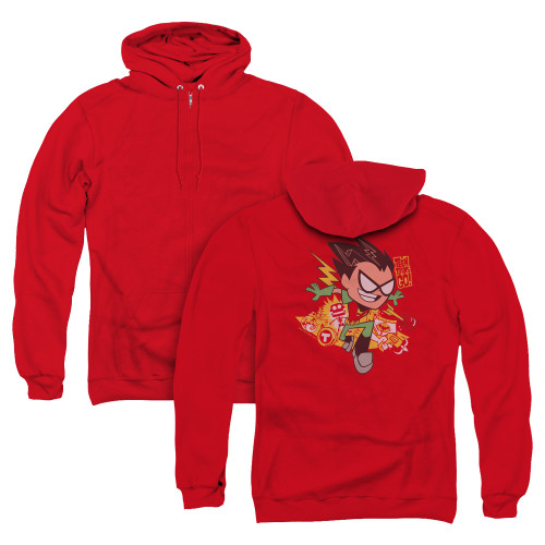 Image for Teen Titans Go! Zip Up Back Print Hoodie - Robin