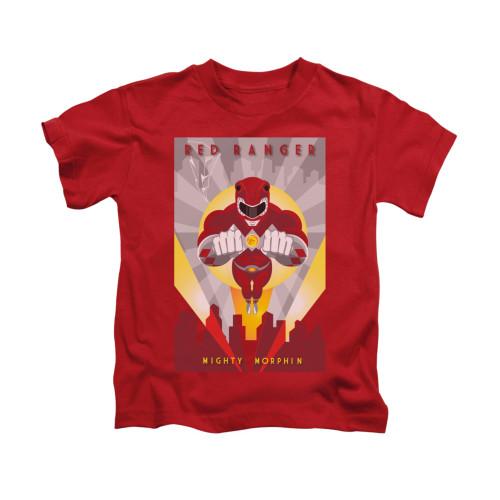 Image for Power Rangers Kids T-Shirt - Red Ranger Deco