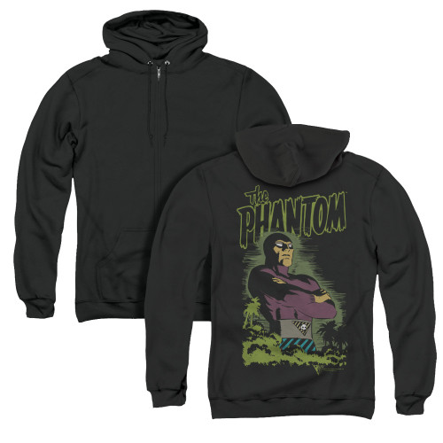 Image for The Phantom Zip Up Back Print Hoodie - Jungle Protector