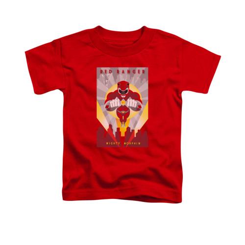 Image for Power Rangers Toddler T-Shirt - Red Ranger Decos