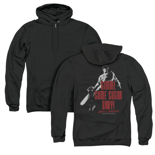 Image for Army Of Darkness Zip Up Back Print Hoodie - Sugar