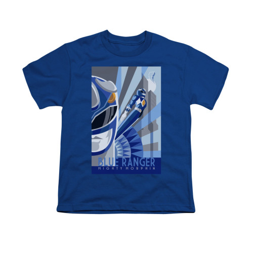 Image for Power Rangers Youth T-Shirt - Blue Ranger Deco