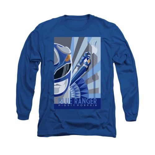 Image for Power Rangers Long Sleeve T-Shirt - Blue Ranger Deco