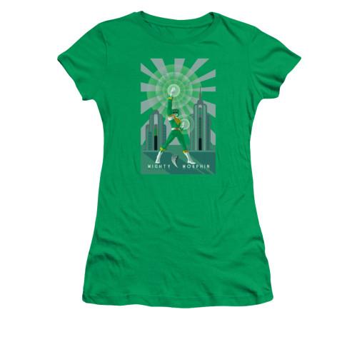 Image for Power Rangers Girls T-Shirt - Green Ranger Deco