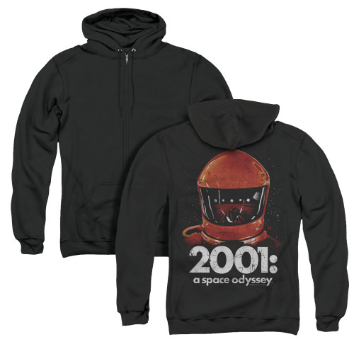 Image for 2001: A Space Odyssey Zip Up Back Print Hoodie - Space Travel