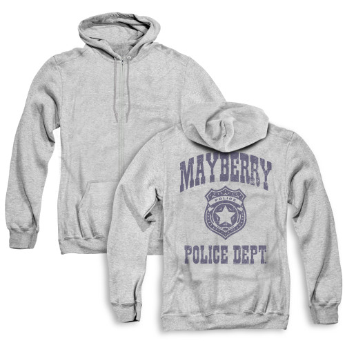 Image for Andy Griffith Show Zip Up Back Print Hoodie - Mayberry Police