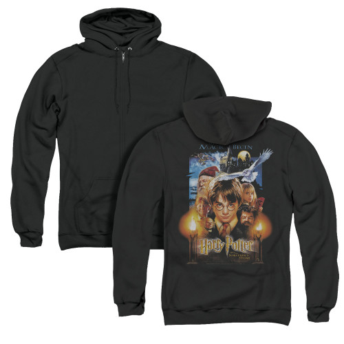 Image for Harry Potter Zip Up Back Print Hoodie - Movie Poster