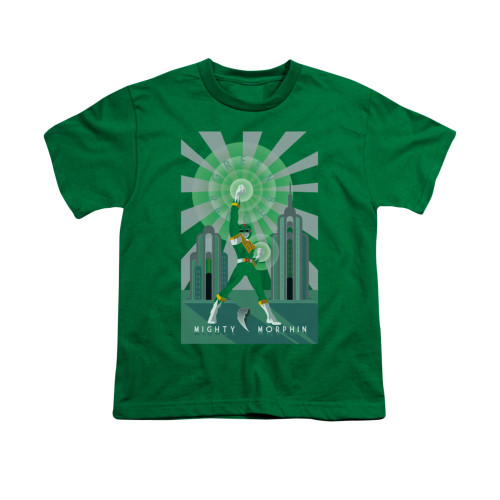 Image for Power Rangers Youth T-Shirt - Green Ranger Deco