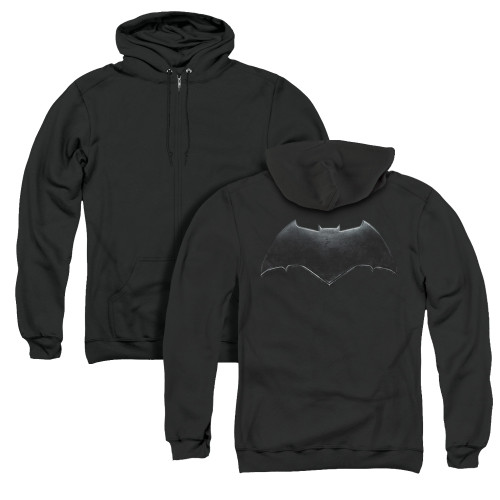 Image for Justice League Movie Zip Up Back Print Hoodie - Batman Logo