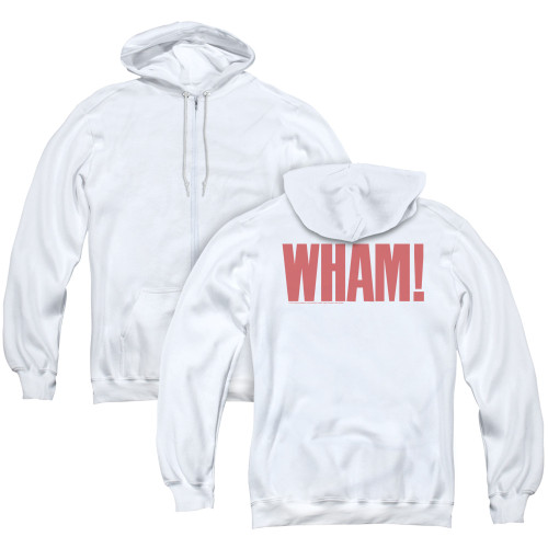 Image for Wham! Zip Up Back Print Hoodie - Logo
