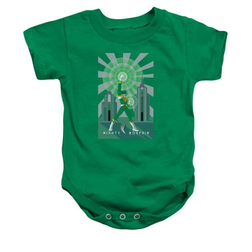 Image for Power Rangers Baby Creeper - Green Ranger Deco