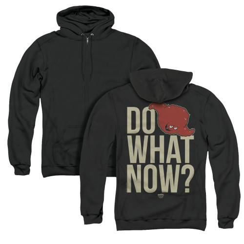 Image for Aqua Teen Hunger Force Zip Up Back Print Hoodie - Say What Now?