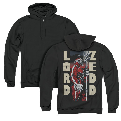 Image for Power Rangers Zip Up Back Print Hoodie - Zedd Deco