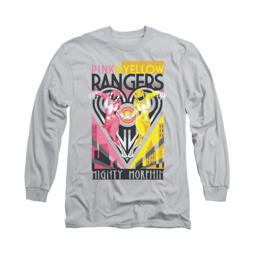 Image for Power Rangers Long Sleeve T-Shirt - Pink & Yellow Deco