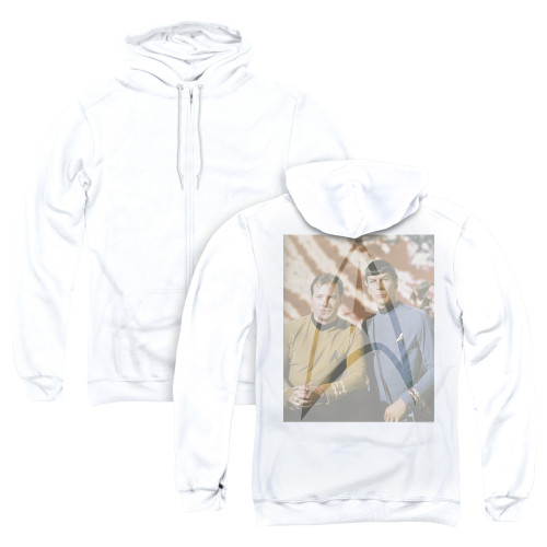 Image for Star Trek Zip Up Back Print Hoodie - Classic Duo
