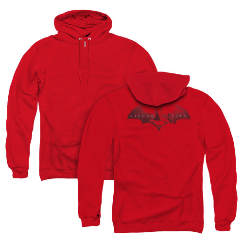 Image for Arkham City Zip Up Back Print Hoodie - In The City