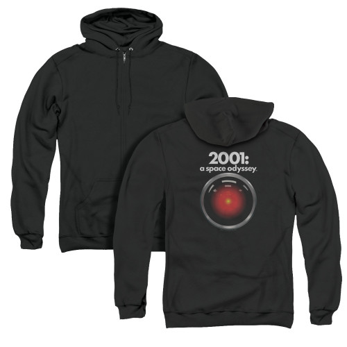 Image for 2001: A Space Odyssey Zip Up Back Print Hoodie - Hal