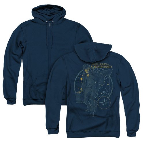 Image for Fantastic Beasts: the Crimes of Grindelwald Zip Up Back Print Hoodie - Suitcase