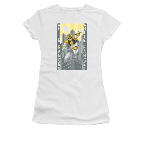 Image for Power Rangers Girls T-Shirt - White Ranger Deco