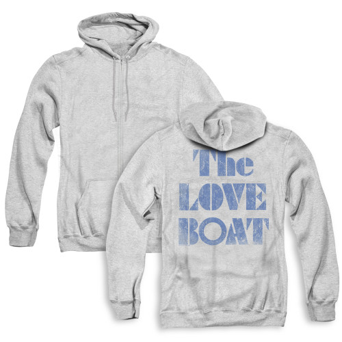 Image for The Love Boat Zip Up Back Print Hoodie - Distressed