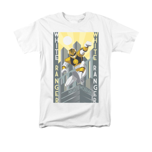Image for Power Rangers T-Shirt - White Ranger Deco