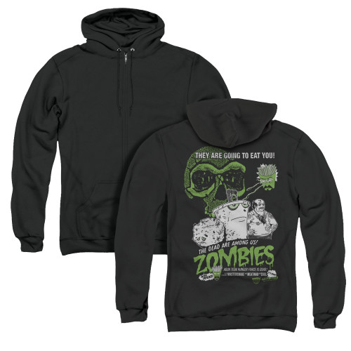 Image for Aqua Teen Hunger Force Zip Up Back Print Hoodie - Zombies