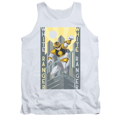 Image for Power Rangers Tank Top - White Ranger Deco