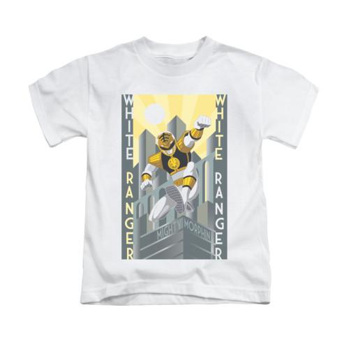 Image for Power Rangers Kids T-Shirt - White Ranger Deco