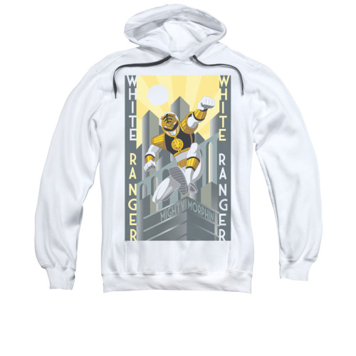 Image for Power Rangers Hoodie - White Ranger Deco