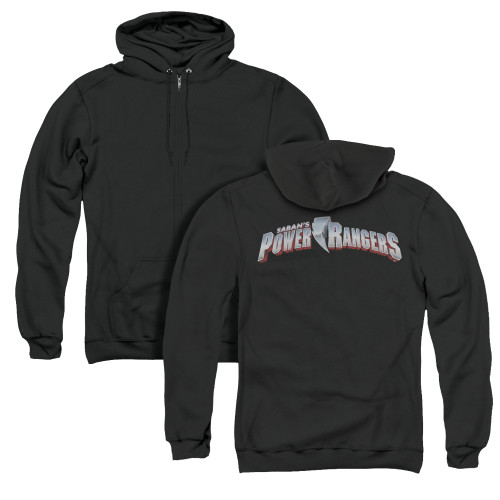 Image for Power Rangers Zip Up Back Print Hoodie - New Logo