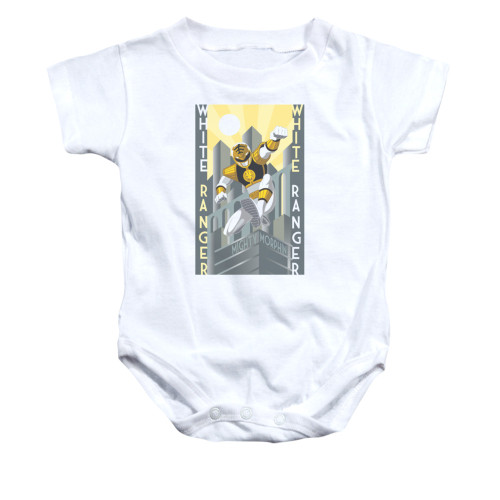 Image for Power Rangers Baby Creeper - White Ranger Deco