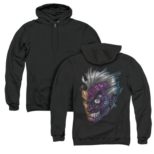 Image for Batman Zip Up Back Print Hoodie - Just Face