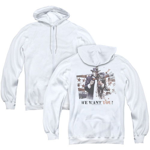 Image for Arkham City Zip Up Back Print Hoodie - We Want You
