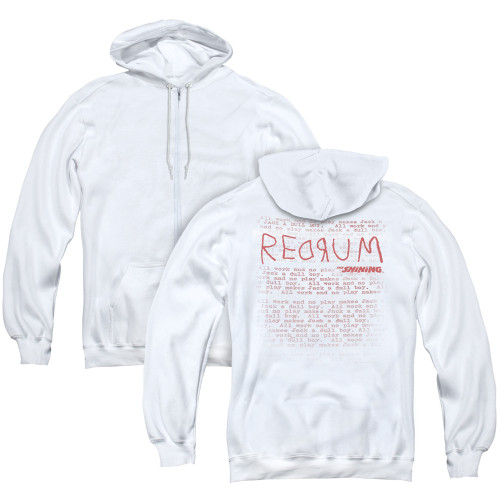 Image for The Shining Zip Up Back Print Hoodie - Redrum