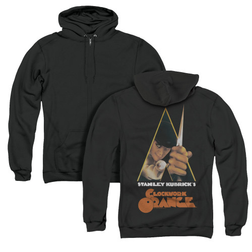 Image for A Clockwork Orange Zip Up Back Print Hoodie - Poster