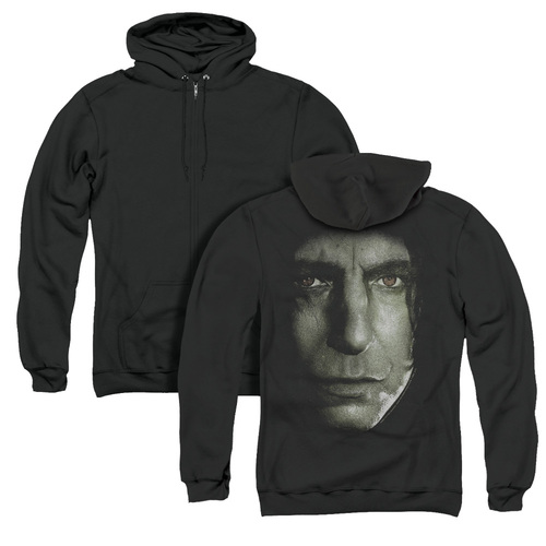 Image for Harry Potter Zip Up Back Print Hoodie - Snape Head