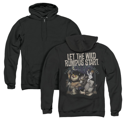 Image for Where the Wild Things Are Zip Up Back Print Hoodie - Wild Rumpus